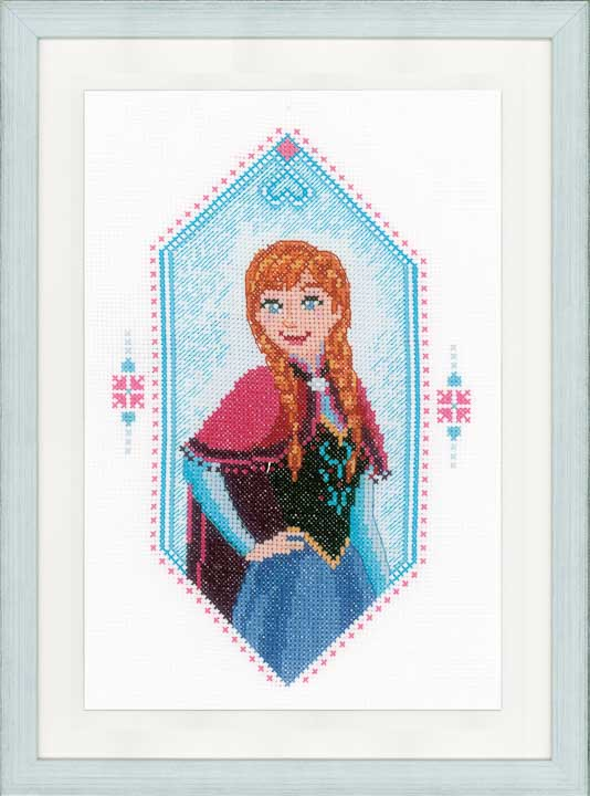 Vervaco Counted Cross Stitch Kit: Frozen - Anna Characters CSK