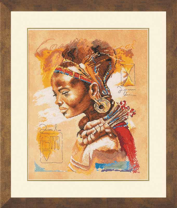 Lanarte Counted Cross Stitch Kit: African Woman