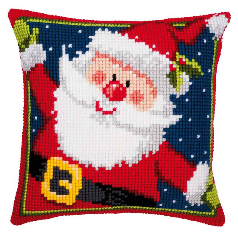 Vervaco Cross Stitch Cushion Kit: Father Christmas