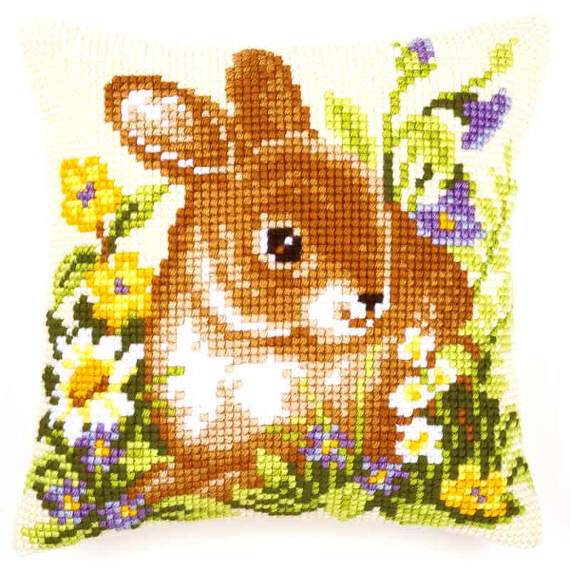 Vervaco Cross Stitch Cushion: Bunny