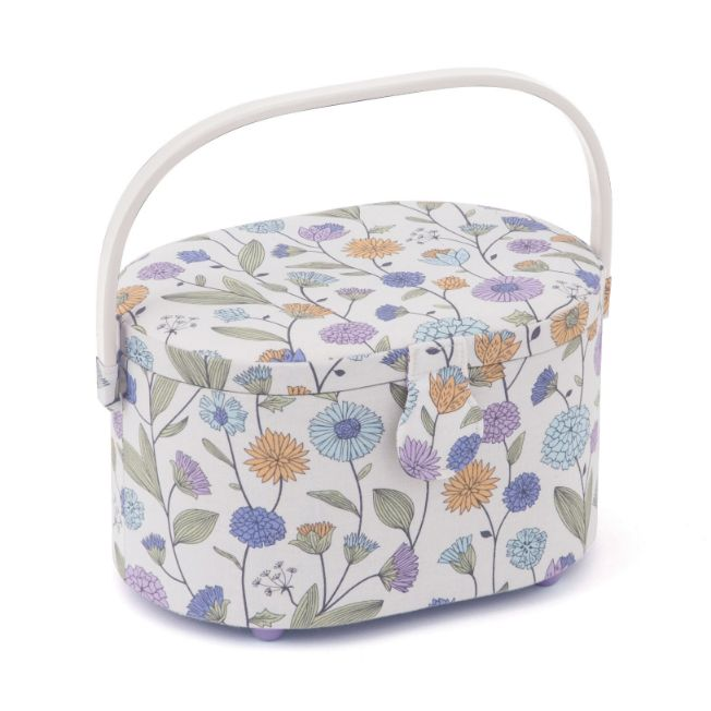 HobbyGift HGSOD_514 | Sewing Box (S) | Oval | Deep | Wild Flower Study