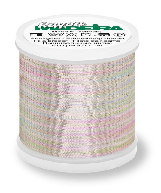 Madeira 9840_2101 | Rayon Multicolor Embroidery Thread 200m | Pastel Blue/Pink/Mint