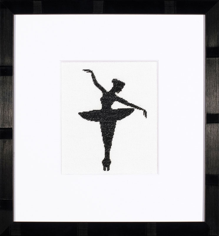 Lanarte Counted Cross Stitch Kit: Ballet Silhouette 1