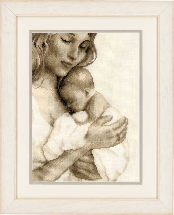 Counted Cross Stitch Kit: Mother And Child