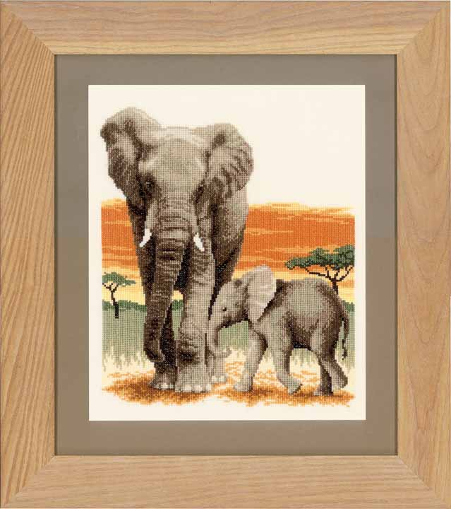 Counted Cross Stitch: Elephants Journey