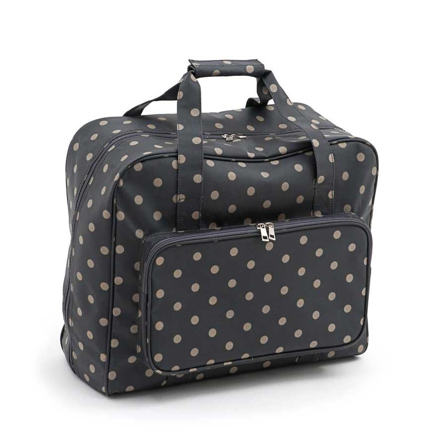 HobbyGift MR4660_263 | Sewing Machine Bag | Matt PVC | Charcoal Polka Dot
