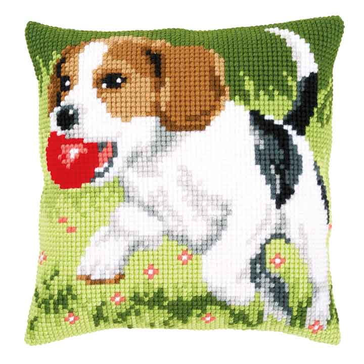Vervaco Cross Stitch Cushion Kit: Beagle Cats & Dogs CSCK