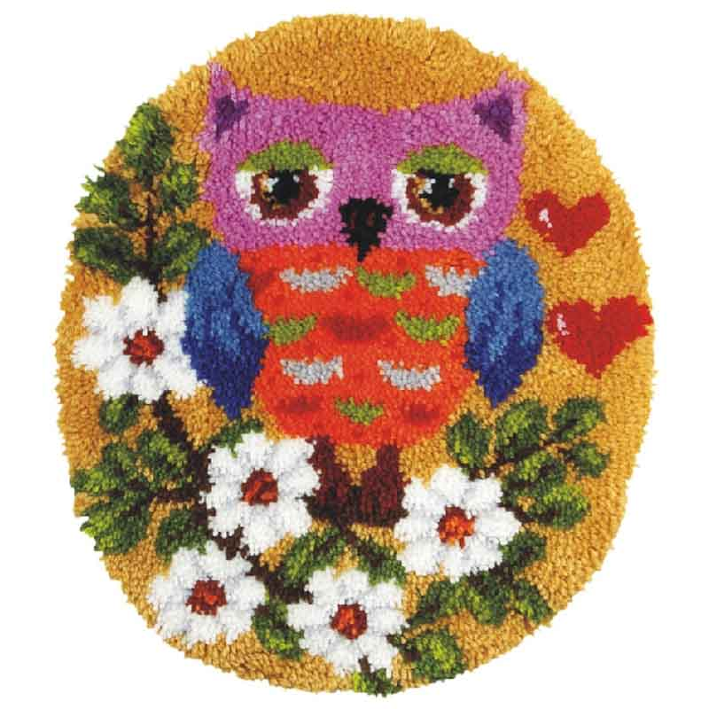 Orchidea Latch Hook Kit: Rug: Shaped: Owl