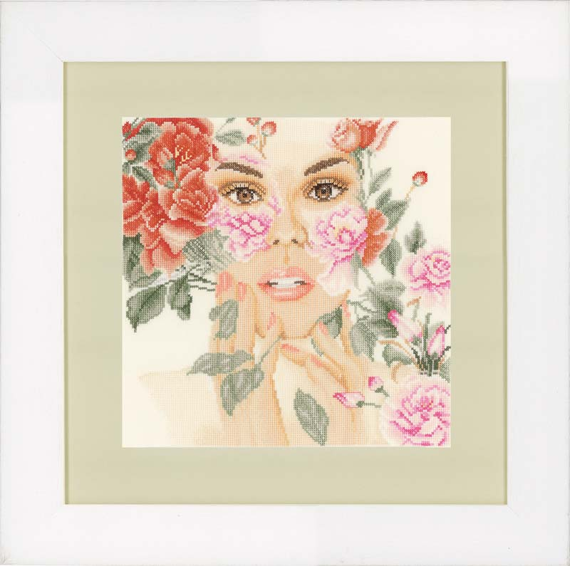 Lanarte Counted Cross Stitch Kit: Flower Face (Evenweave)