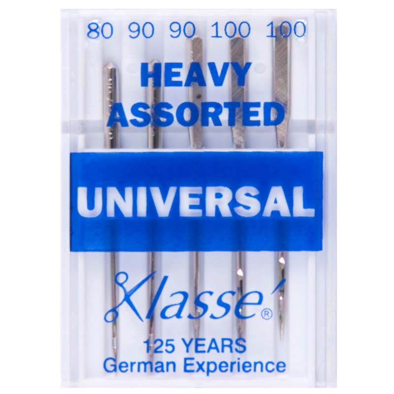 Klasse Sewing Machine Needles: Universal: Heavy: Assorted: Pieces