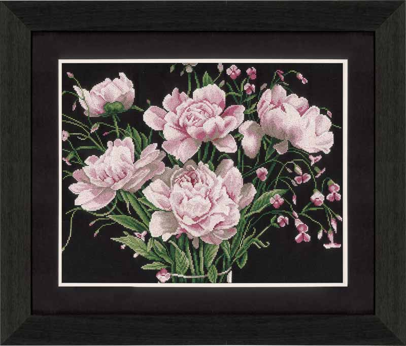 Lanarte Counted Cross Stitch Kit: Pink Roses (Aida,W)