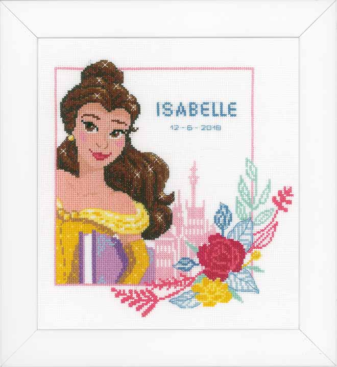 Counted Cross Stitch Kit: Birth Record: Beauty and the Beast - Enchanted Beauty Birth Records CSK