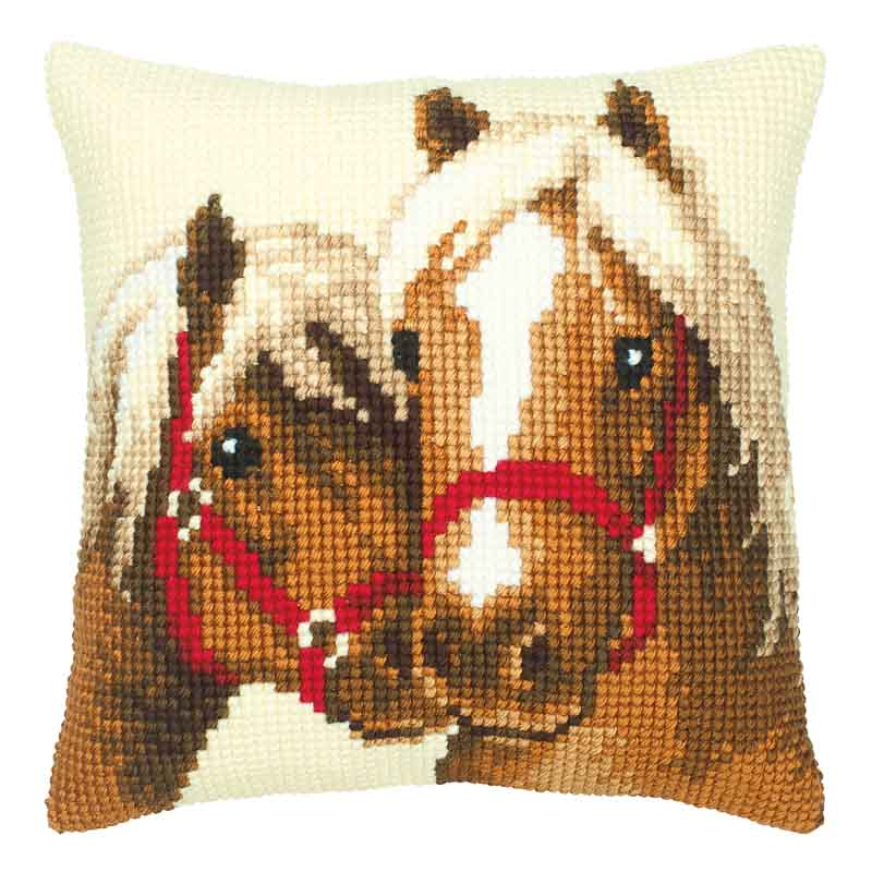 Vervaco Cross Stitch Cushion Kit: Horses Animals & Birds CSCK
