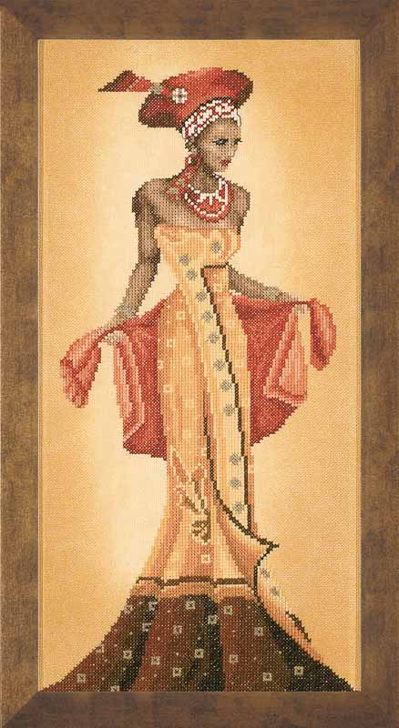 Lanarte Counted Cross Stitch Kit: African Fashion I