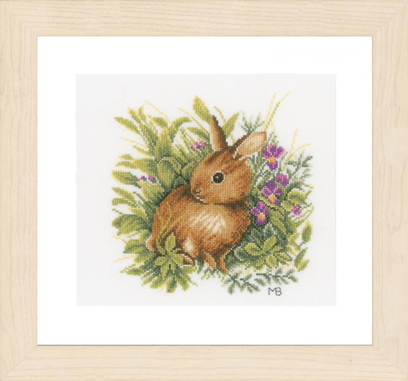 Lanarte Counted Cross Stitch Kit: Hare (Evenweave) Animals & Birds CSK