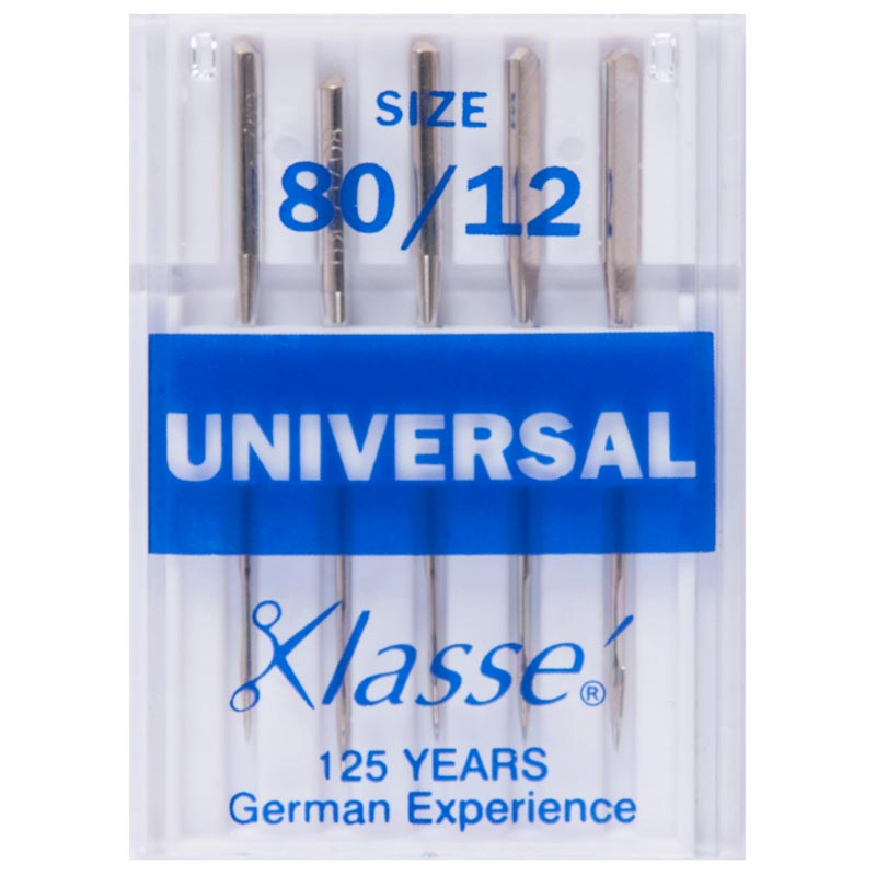 Klasse Sewing Machine Needles: Universal: 80/12: 5 Pieces