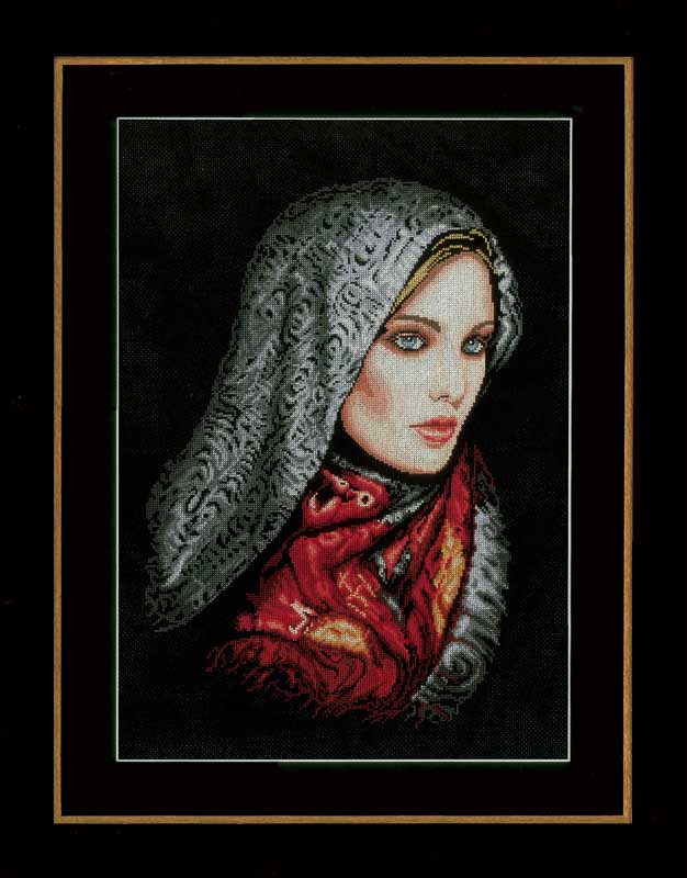 Lanarte Counted Cross Stitch Kit: Woman In Veil: (Aida) Beauty & Love CSK