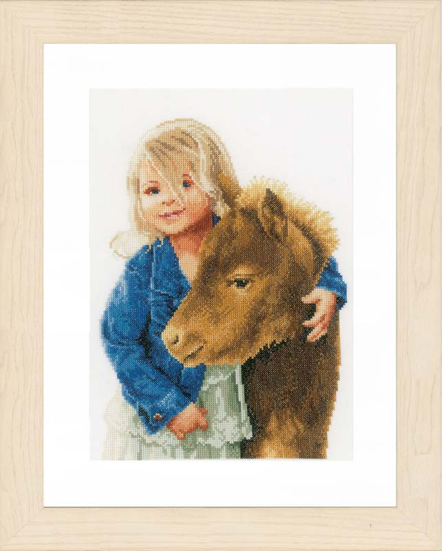 Lanarte Counted Cross Stitch Kit: My Best Friend (Evenweave)