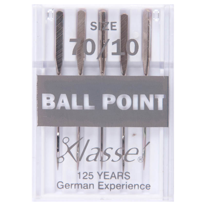 Klasse Sewing Machine Needles: Ball Point: 70/10: 5 Pieces