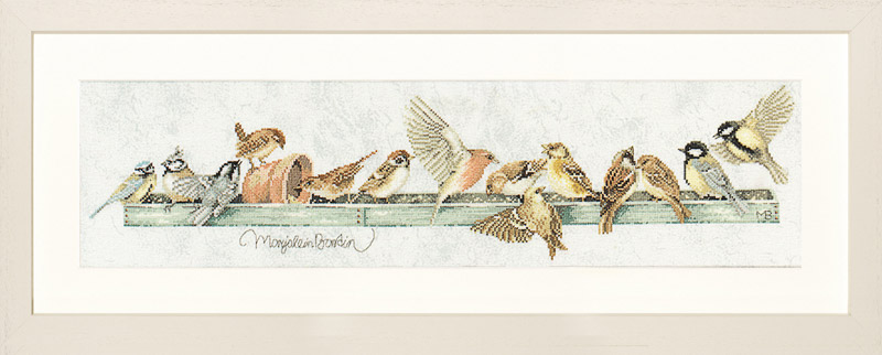 Lanarte Counted Cross Stitch Kit: The Pecking Order