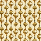 A Golden Holiday Ornaments on Cream Fabric