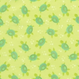 ABC's Under the Sea Turtles on Green Fabric