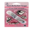Anorak Snaps Metal Top 10 Sets 15mm Silver