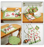 Apron, Hot Pads, Pot Holders, Place Mat, Napkin and Seat Cushion B5660 Sizes SML, MED, LRG, XLG