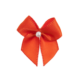 Autumn Orange Pearl Crossover Bow 6pk