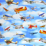 Aviator Planes on Sky Fabric