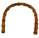 Bag Handle Arched 16 x 12cm Bamboo