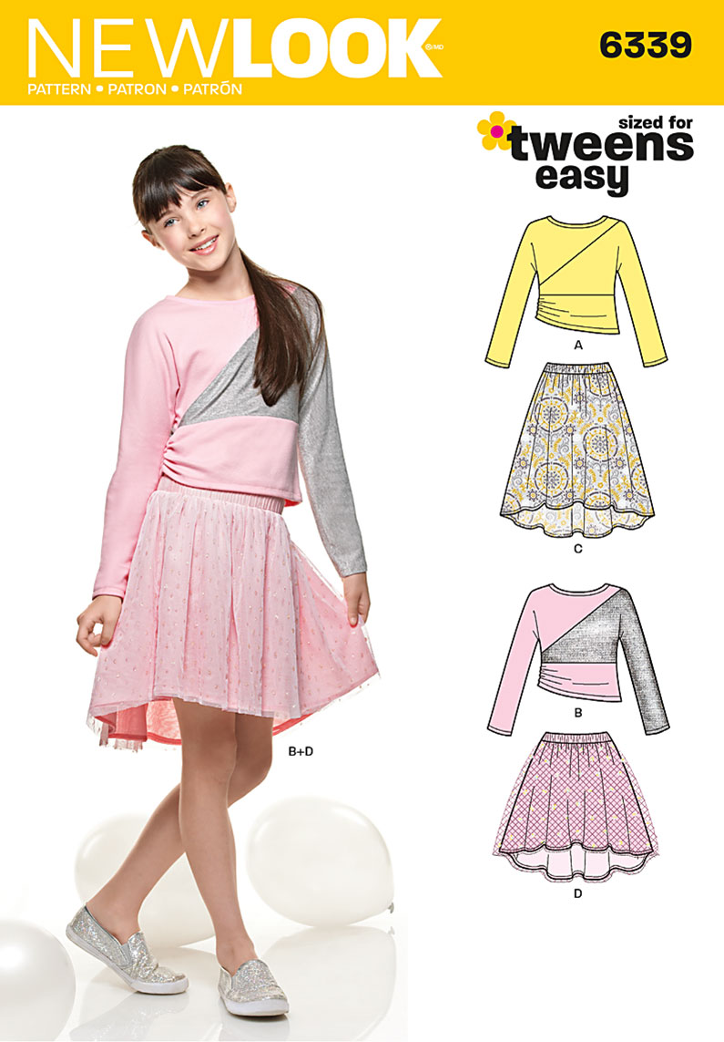 New Look Girl\'s Skirts and Knit Top ,Size A (8-10-12-14-16 ...