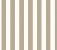 Beige Stripes on White 1 Metre Fabric