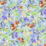 Belle Multi Watercolour Floral on Periwinkle Fabric