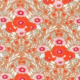 BirdPond Anemone Multicolour on Sand Fabric