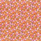 Bliss Multi Packed Floral on Dark Pink Fabric