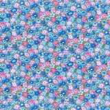 Bliss Multi Packed Floral on Purple Fabric