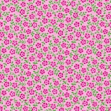 Bliss Pink Floral Vine & Dot on Pink Fabric