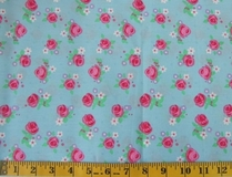 Blue Flowers Fabric Cut 6244, Single 145 x 110cm