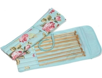Blue Rose Bamboo Knitting Pin Set Filled [Clearance]