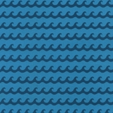 Blue Waves Fabric