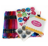 Bottle Caps Floss Jewellery Bold Brights 105pk