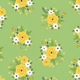 Bright Side Floral Pistachio Fabric