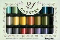 Country Embroidery Thread Set 21 Colours