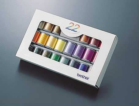Embroidery Thread Set  22 Colours ETS22