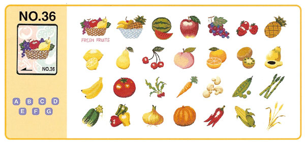 Brother Memory Card No 36 Fruits And Vegetables Embroidery Design