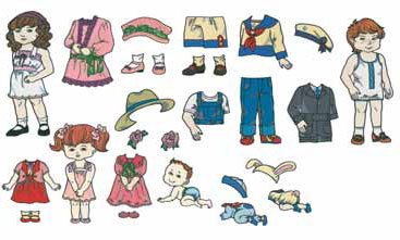Brother Memory Card No. 51 Paper Dolls