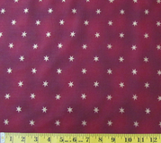 Burgundy & Gold Stars Fabric