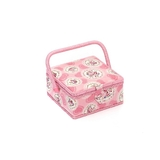 Cameo Floral Pink Small Sewing Basket