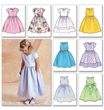 Childrens Girls Dress Pattern B3350 Size 2,3,4,5